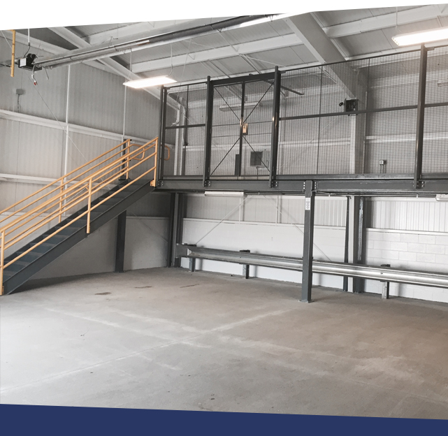 Wire partition providing safety on mezzanine